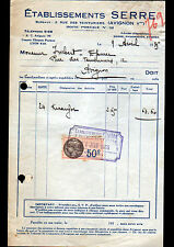 """AVIGNON (84) PRODUITS pour EPICERIE """"Ets SERRE"""" en 1935"""