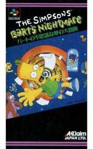 The Simpsons  Bart s Nightmare Nintendo SNES Japan Version