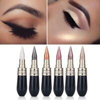 6 Colors Novel Eyeliner Eyeshadow 2 in 1 Eye Makeup Pencil Metallic Shimmer New