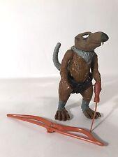 """Vintage TMNT Splinter Bow Cane Belt 5"""" Figure 1988 Teenage Mutant Ninja Turtles"""