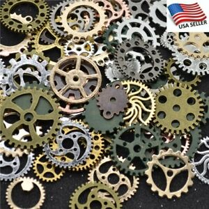 US Multicolor Metal Bronze Steampunk Cogs And Gears Clock Hand Charm Mix Tsc66