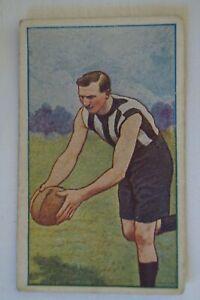 Collingwood - 1920's - J.J Schuh Vintage Magpie Cigarette Card - L. Hughes.