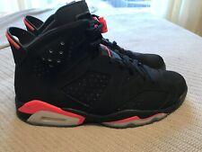 2014 Air Jordan 6 VI Retro Black Infrared Varsity Red Men's Size 12