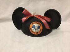 Vintage Disneyland Mickey Mouse Ears Felt & Plastic Hat Cap Walt Disney