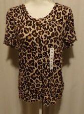 NWT!  SO ~ SIZE XXL Leopard Print Top