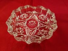Vintage Ashtray Clear Depression Glass 4.25""