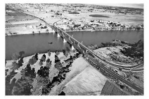 PENRITH NSW Penrith Bridge aerial 1952 modern Digital Photo Postcard
