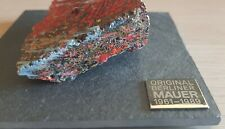 Original Genuine Color Piece of Berlin Wall on Special Slate Display with COA