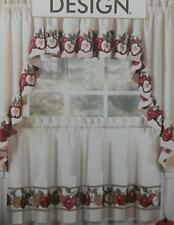3pc Apple Crisp Kitchen Cafe Curtain Tier Swag Set Window Valance Decor Ruffle