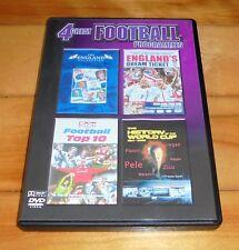 4 Great Football Programmes-  England - World 2 DISC DVD SET REGION FREE!