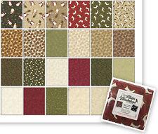 "Benartex Winter Wonderland Christmas Cotton Fabric Charm Pack 42 - 5"" Squares"