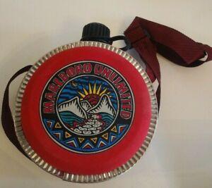 Vintage Marlboro Unlimited Coleman Water Canteen Red/Black W/Shoulder Strap