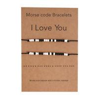 Morse Code Secret Hidden Message I Love You Card Friendship Couple Bracelet Gift