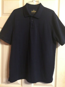 Outdoor Life Mens Dark Blue Navy Short Sleeve Polo Shirt Size M