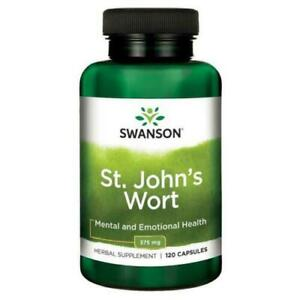 SWANSON ST JOHNS WORT 375 MG X 120 CAPSULES NATURAL STRESS SUPPORT