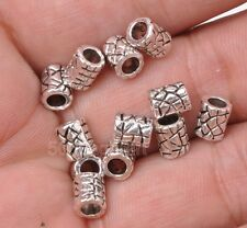 40pcs Tibetan silver Leather texture bead loose spacer beads 5x6mm A3179