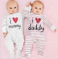 Newborn Infant Baby Girl Romper Bodysuit Jumpsuit Outfits Sunsuit Clothes
