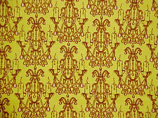Cotton Fabric CHANDELIER DROPLET Fortiny retro candelabra gothic print Givens YD