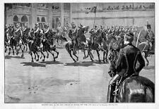 HUSSARS RECEPTION DRILL, FIRST COMPANY OF HUSSARS HISTORY, NEW YORK CITY, HORSES