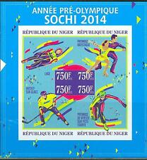 NIGER 2013 SOCHI 2014 WINTER OLYMPIC GAMES FIGURE SKATING HOCKEY BOBSLED SHT IMP
