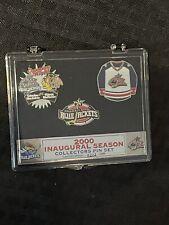 Rare 0212/2000 Nhl Columbus Blue Jackets Inaugural Season Collectible Pin Set