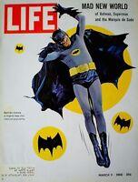 Batman Adam West 1966 Magazine Life Superhero Includes Roman Empire Gatefold VTG