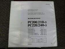 Komatsu PC 200 210 220 240 -3 Hydraulic Excavator Shop Service Repair Manual