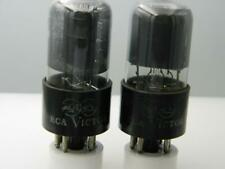 Code Pair RCA Red Dot 6K6GT Test NOS Grey Glass Black Plate Serious Tubes J535