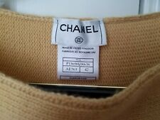 AUTH. CHANEL 100% CASHMERE SWEATER SHORT SLEEVE EXCELLENT PULLOVER MADE IN UK