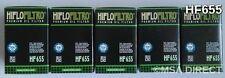 KTM EXC 500 / Six Days (2012 to 2016) HifloFiltro Oil Filter (HF655) x 5 Pack