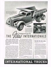 1937 INTERNATIONAL Six-Wheeler Dump Truck Vtg Print Ad