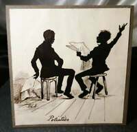 Antique silhouette, satirical art, politics