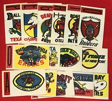 1961 Topps Football Flocked Sticker Inserts (Pick your Team)