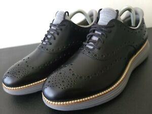 Cole Haan Original Grand Ultra Wingtip Oxford Leather Black Shade C32061 Sz 7