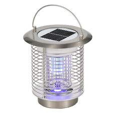 Solar Electric Mosquito Killer Portable Insect Bug Fly Zapper Lamp w/ Handle