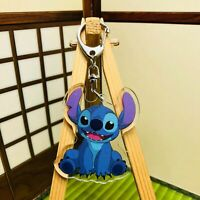 lilo&stitch anime Acrylic collect Keyring key chain key holder new