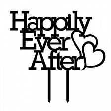Happy Ever After Acrylic Wedding Cake Topper Anniversary Cupcake Stand