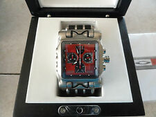 Oakley Minute Machine Red Face Titanium with Leather Band> Beautiful Watch