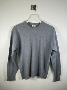 Mens LACOSTE Wool Jumper Sweatshirt Sweater Pullover Size Small Blue
