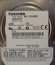 "10 pc. lot Toshiba MK1234GSX 2.5"" 120gb 5400rpm Sata HDD (DOD tested & Wiped)"