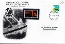 La segunda guerra mundial 1944 Shinano Portaviones japonés Cubierta fregaderos sello Japón/Danbury Mint