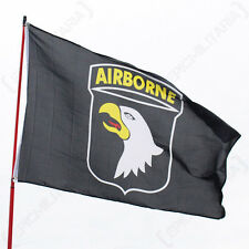 US 101ST AIRBORNE FLAG - American Army Military Screaming Eagles Eyelets 5x3