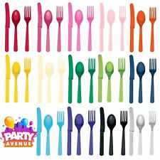 Frosty White Cutlery Assortment 8pc Each of Spoons Knives and Forks 24pk