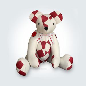 Patchwork Teddy Memory Bear Sewing PATTERN Harley Bear Soft Toy My Fabric Heaven
