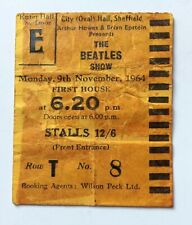 Beatles November 1964 Concert Ticket Sheffield Original Rare