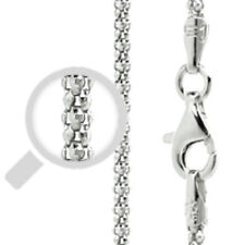 Italy Popcorn 180 Chain Sterling Silver Rhodium Plated Best Price Jewelry 16""