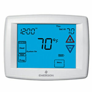 White-Rodgers Big Blue Humidity Universal Touchscreen Thermostat, 4H/2C