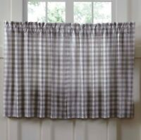 "ANNIE BUFFALO GREY CHECK 36"" Tier Set Cotton Primitive Farmhouse VHC Brands"