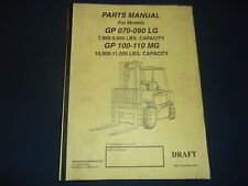 YALE GP 070-090 LG GP 100-110 MG FORKLIFT LIFT TRUCK PARTS MANUAL BOOK 1623
