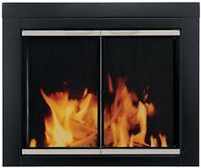 Alsip Medium Glass Fireplace Doors Powder Coated Black Finish High Heat New